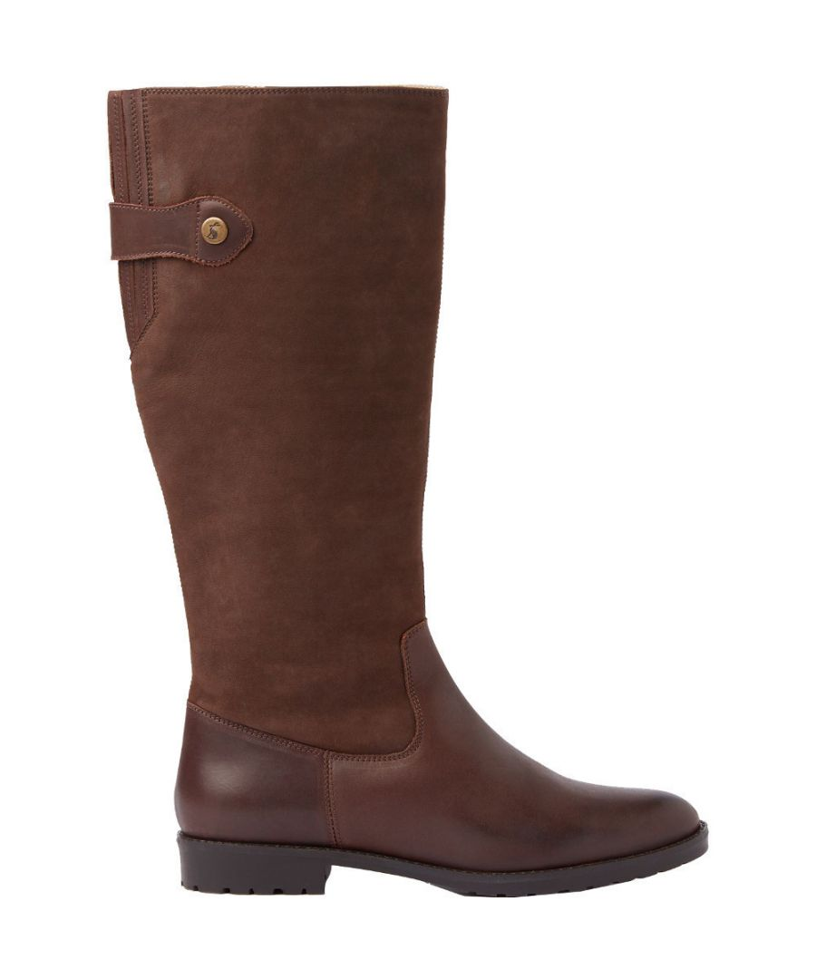 Image for Joules Womens Canterbury Leather Zip Up Knee High Boots