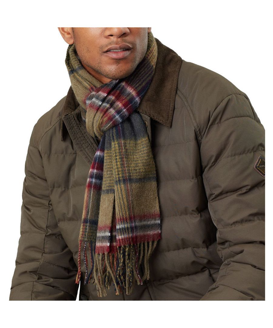 Image for Joules Mens Tytherton Wool Super Soft Winter Scarf