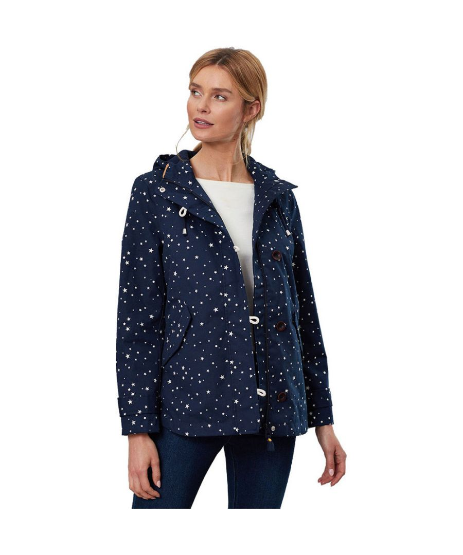 Image for Joules Womens Coast Print Waterproof Cotton Canvas Coat