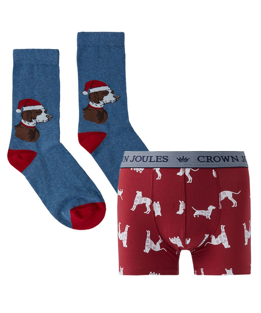 Image for Joules Mens Pud A Sock In It Boxer and Socks Gift Set