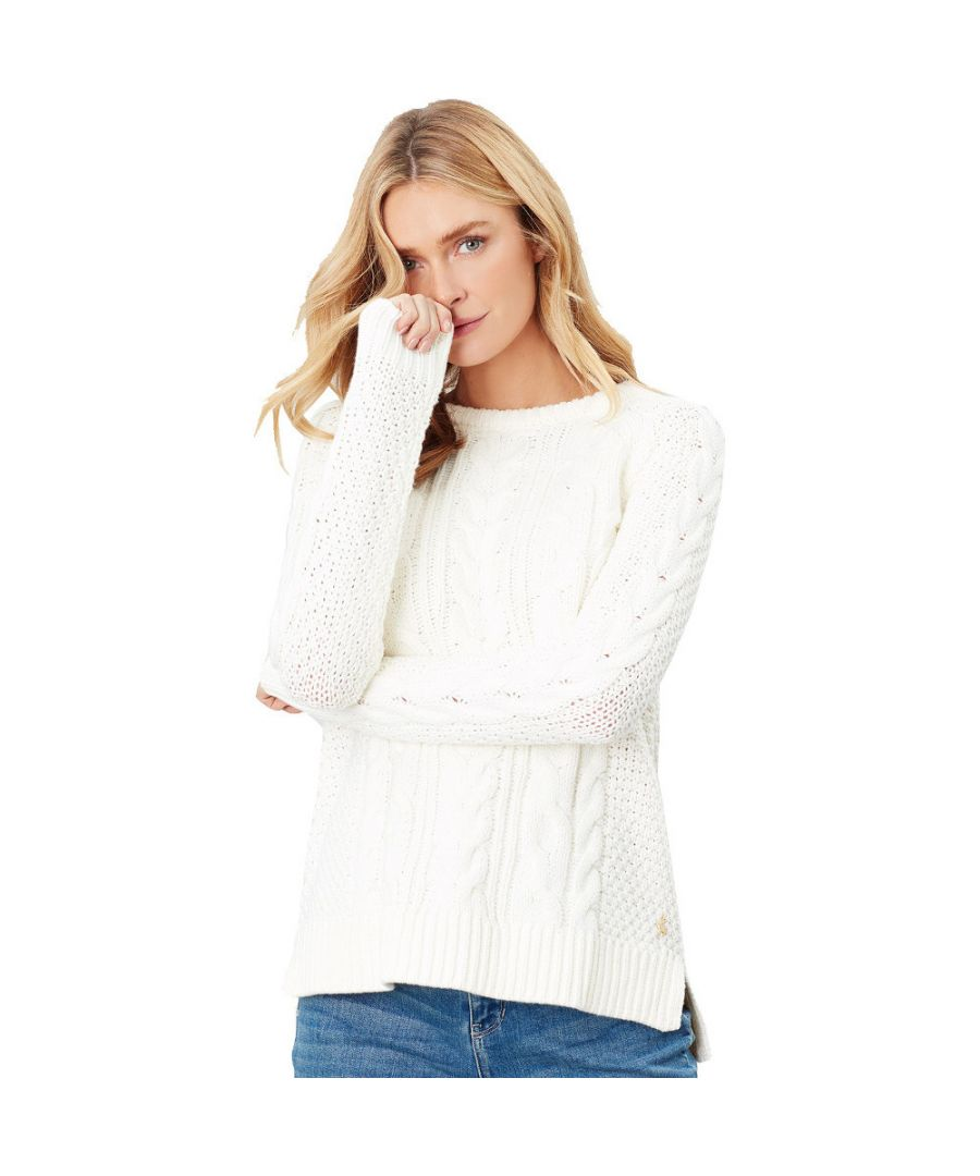 Image for Joules Womens Dawson Cable Knit A Line Warm Raglan Jumper