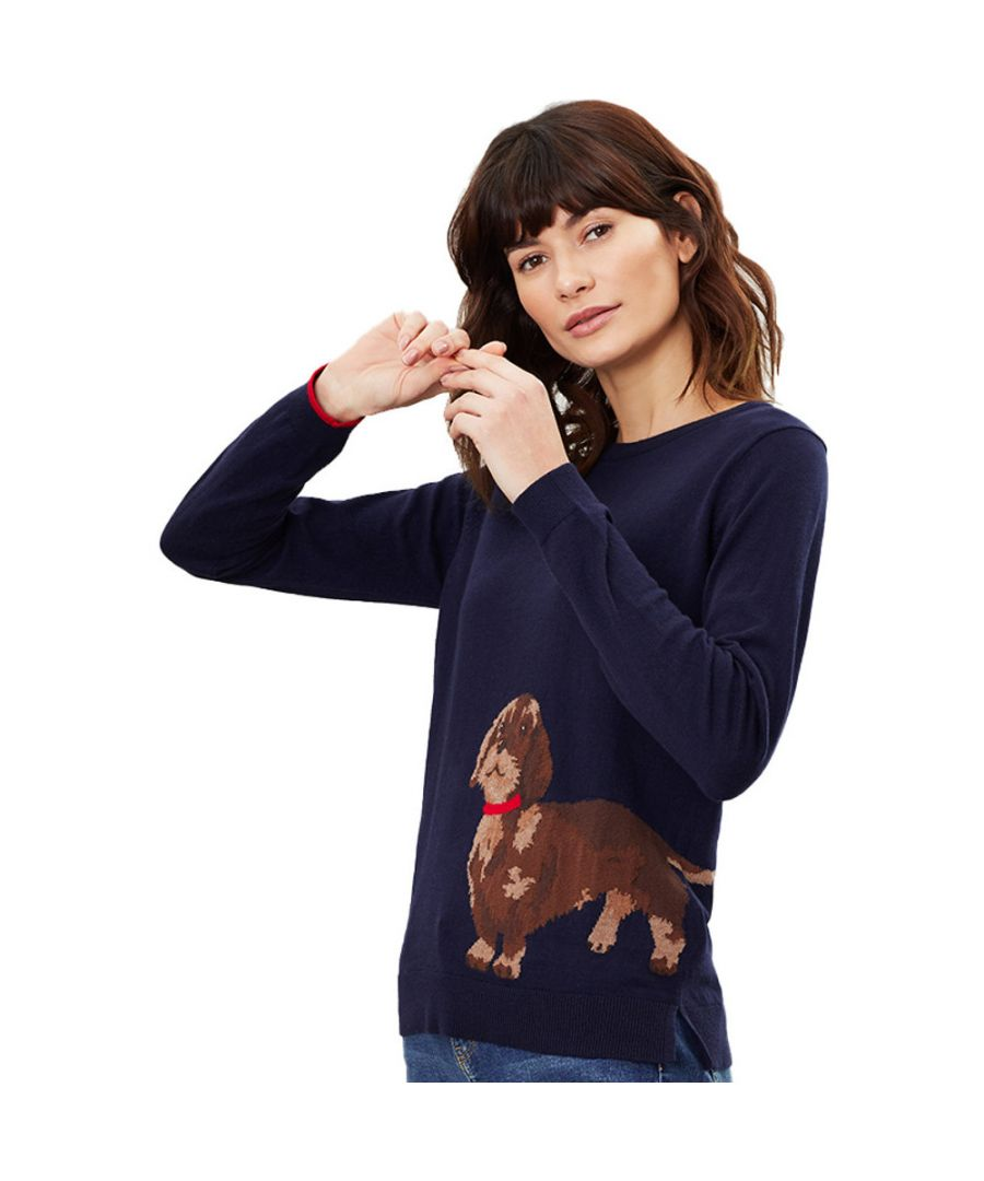 Image for Joules Womens Miranda Intarsia Crew Neck Character Jumper