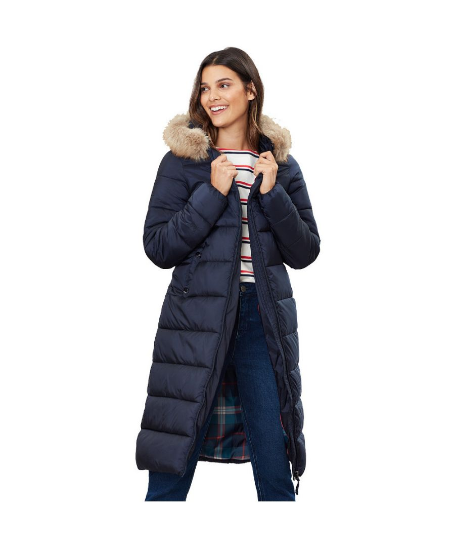 Image for Joules Womens Touchline Knee Length Warm Padded Puffer Coat