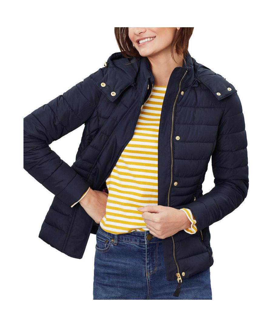 Image for Joules Womens Linden Quilted Hooded Padded Coat Jacket
