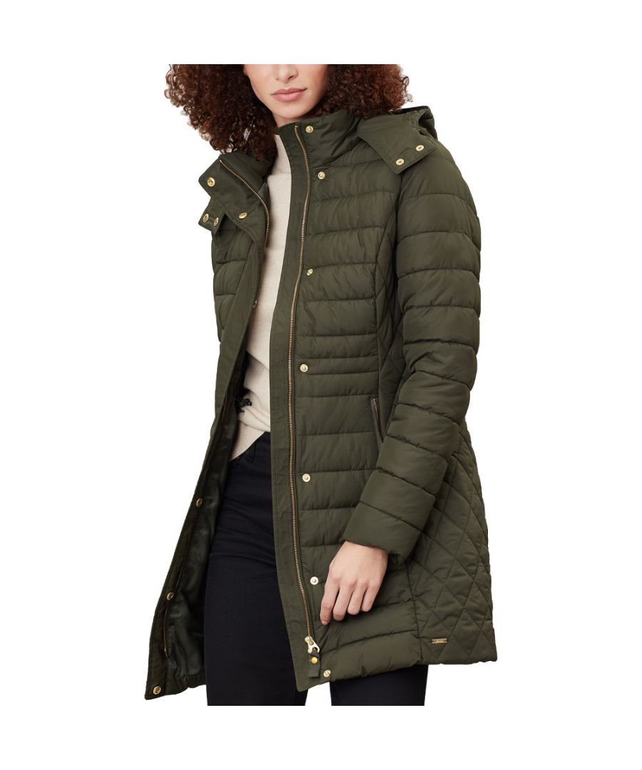 Image for Joules Womens Thirlmere Longline Hooded Padded Coat Jacket