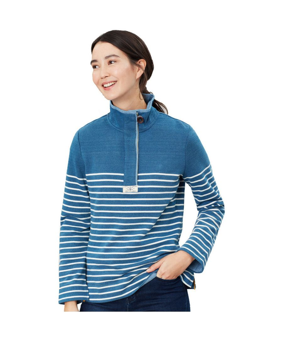 Image for Joules Womens Saunton Salt Soft Nautical Classic Sweatshirt