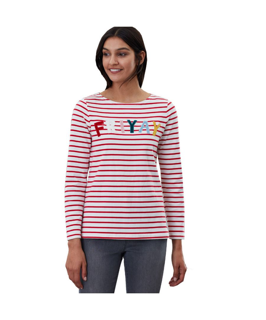 Image for Joules Womens Harbour Luxe Relaxed Fit Long Sleeve Top