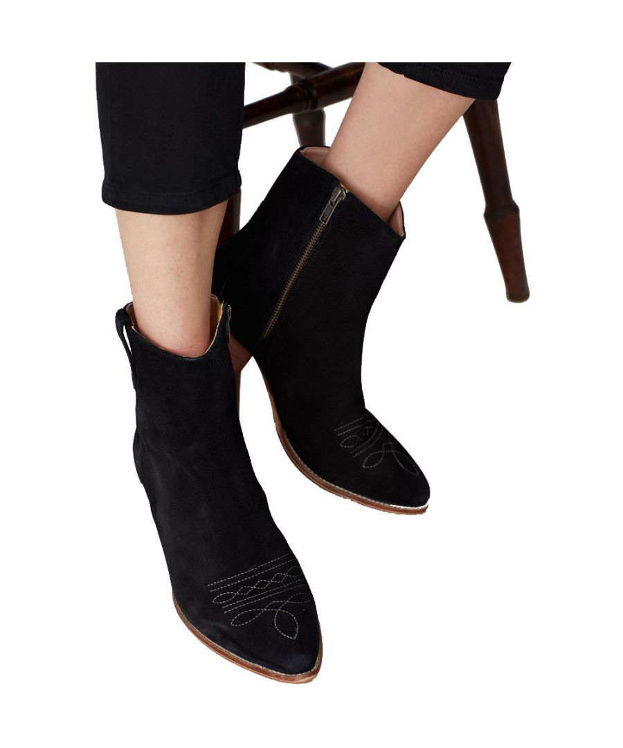 Image for Joules Womens Elmwood Zip Up Leather Suede Ankle Boots