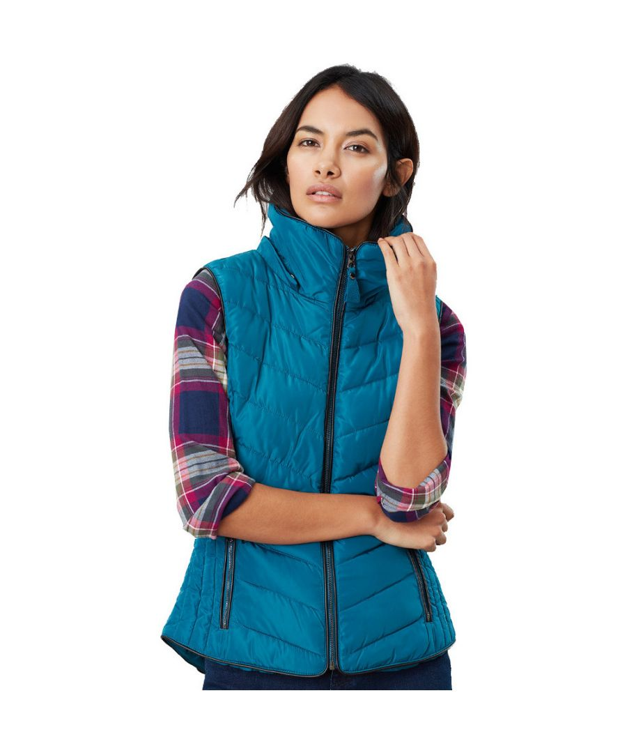 Image for Joules Womens Maybury Flattering Quilted Padded Hooded Gilet
