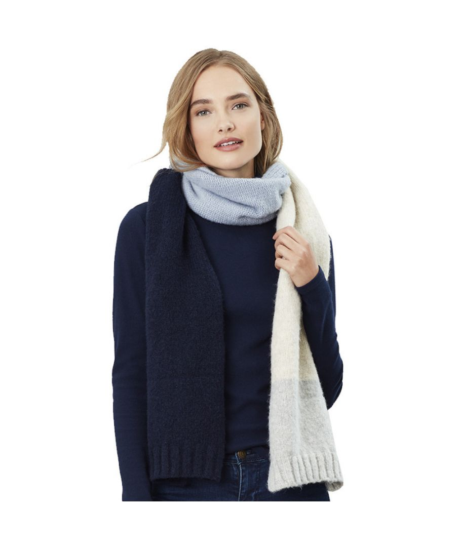 Image for Joules Womens Snugwell Boucle Knit Warm Super Soft Scarf