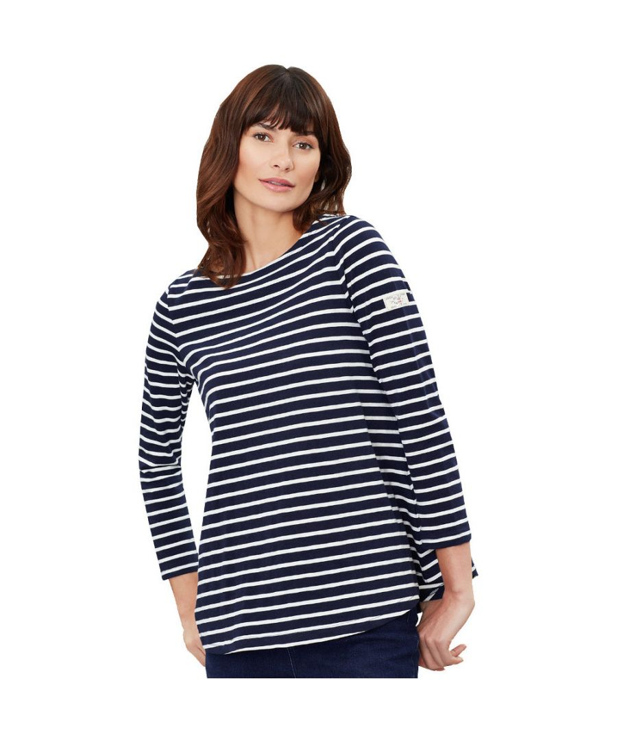 Image for Joules Womens Harbour Lt V Neck Long Sleeve Swing Top