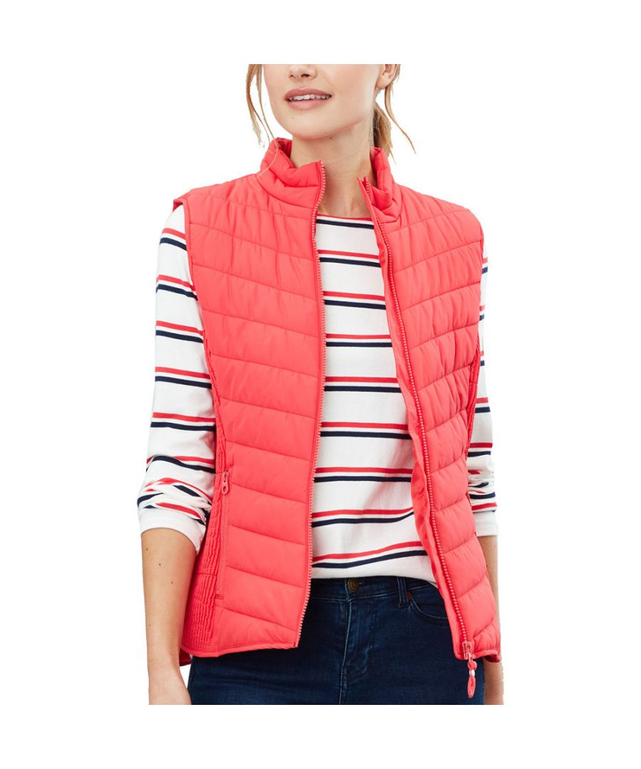 Image for Joules Womens Fallow Funnel Neck Quilted Fitted Gilet
