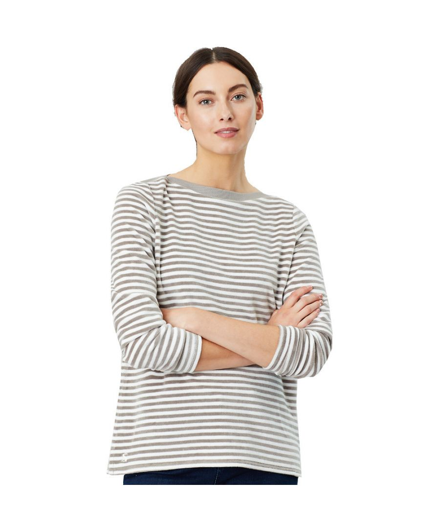 Image for Joules Womens Esme Slash Neck Long Sleeve Harbour Top