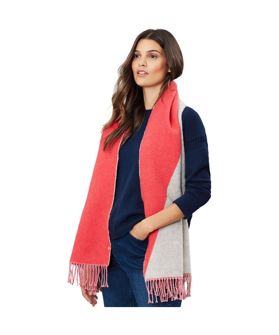 Image for Joules Womens Langford Long Length Stylish Reversible Scarf