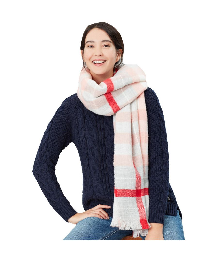 Image for Joules Womens Stamford Checked Warm Winter Fashion Scarf