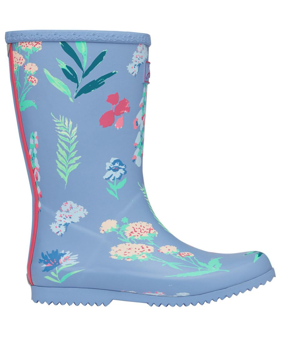 Image for Joules Girls Roll Up Welly Reflective Wellington Boots