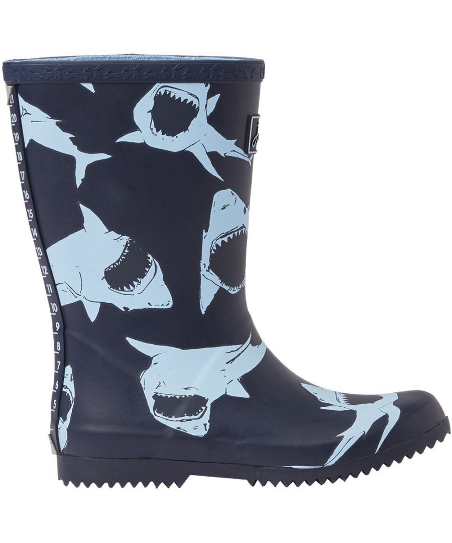 Image for Joules Boys Roll Up Welly Reflective Wellington Boots