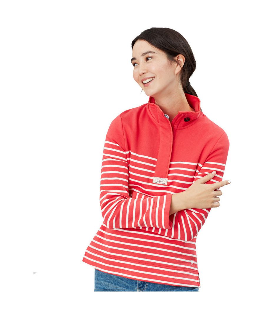 Image for Joules Womens Saunton Button Neck Warm Casual Sweatshirt