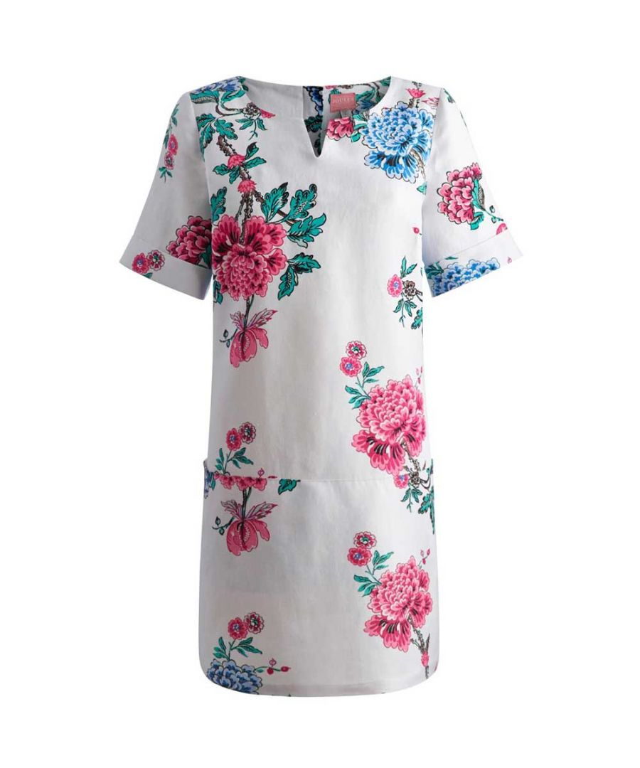 Image for Joules Ladies Abington Short Sleeve Summer Tunic Blue