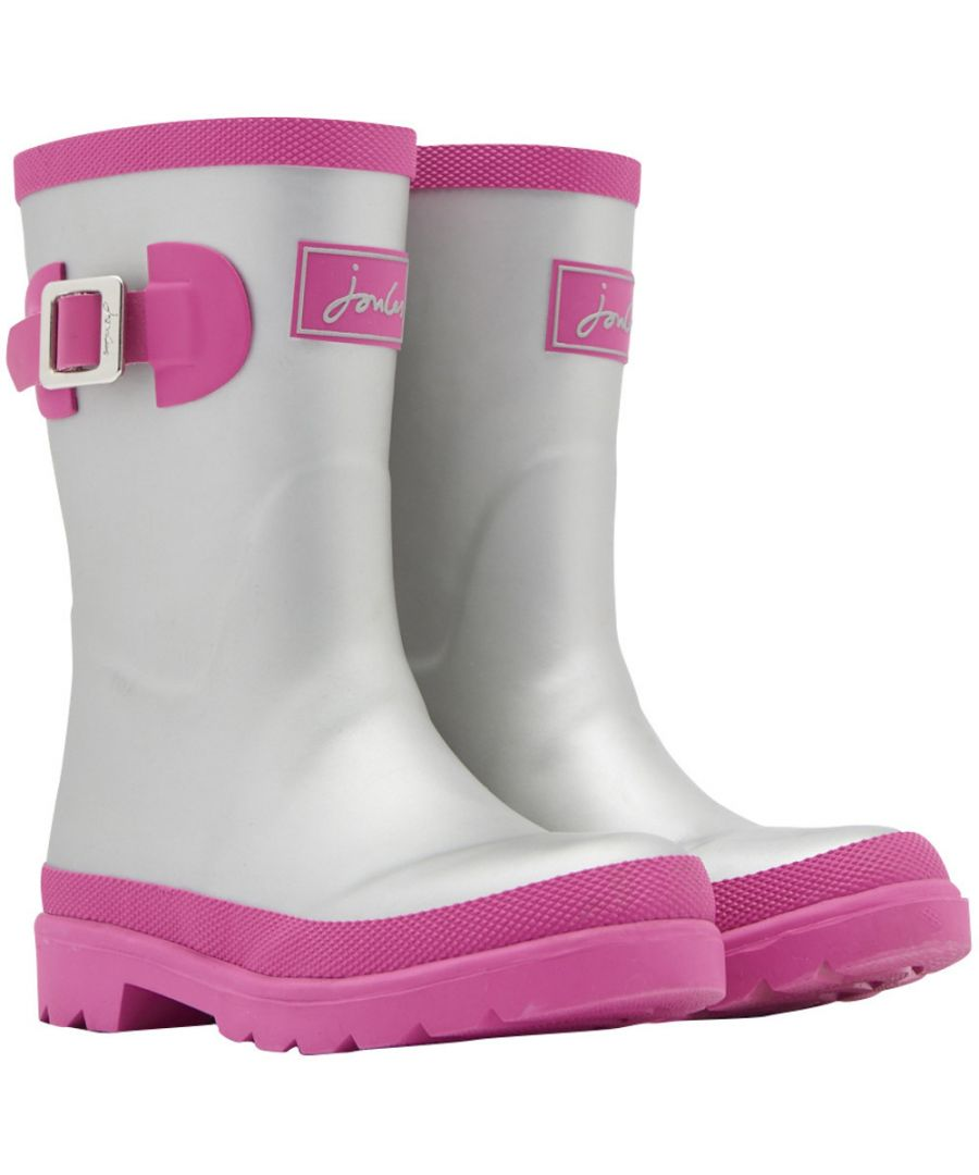 Image for Joules Girls Junior Welly Printed Buckle Detail Welly Wellington Boots