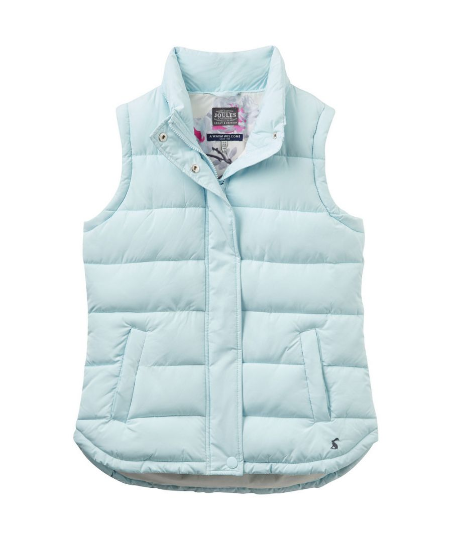 Image for Joules Womens/Ladies Eastleigh Chevron Padded Casual Gilet Bodywarmer