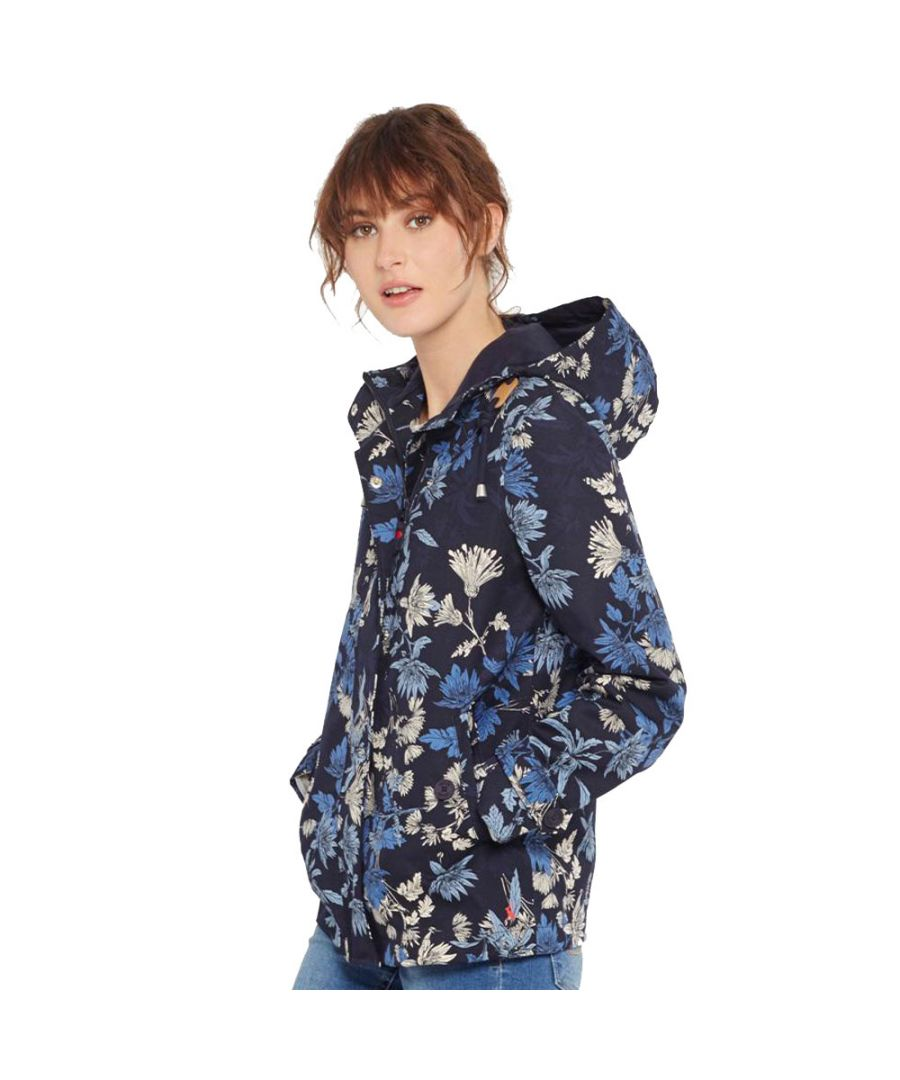 Image for Joules Womens/Ladies Coast Print Patterned Waterproof Hooded Jacket