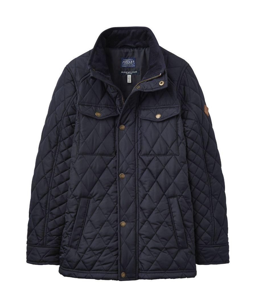 Image for Joules Boys Stafford Warm Quilt Padded Biker Style Jacket
