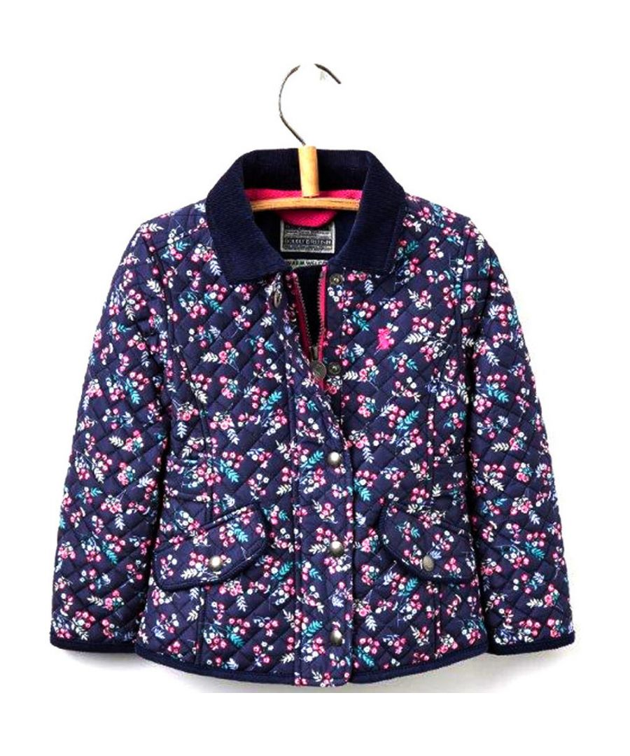 Image for Joules Girls Newdale Warm Premium Quilt Padded Jacket Coat