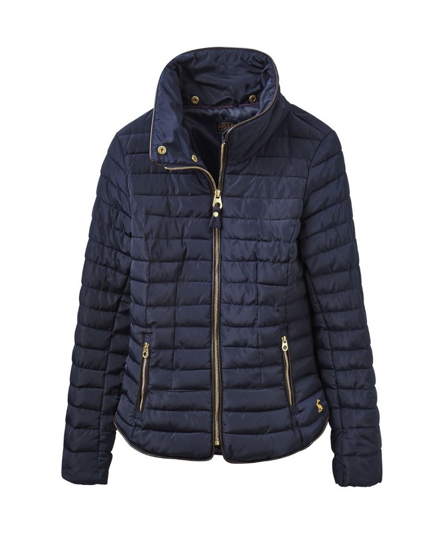 Image for Joules Womens/Ladies Gosfield Fur Trimmed Padded Short Jacket