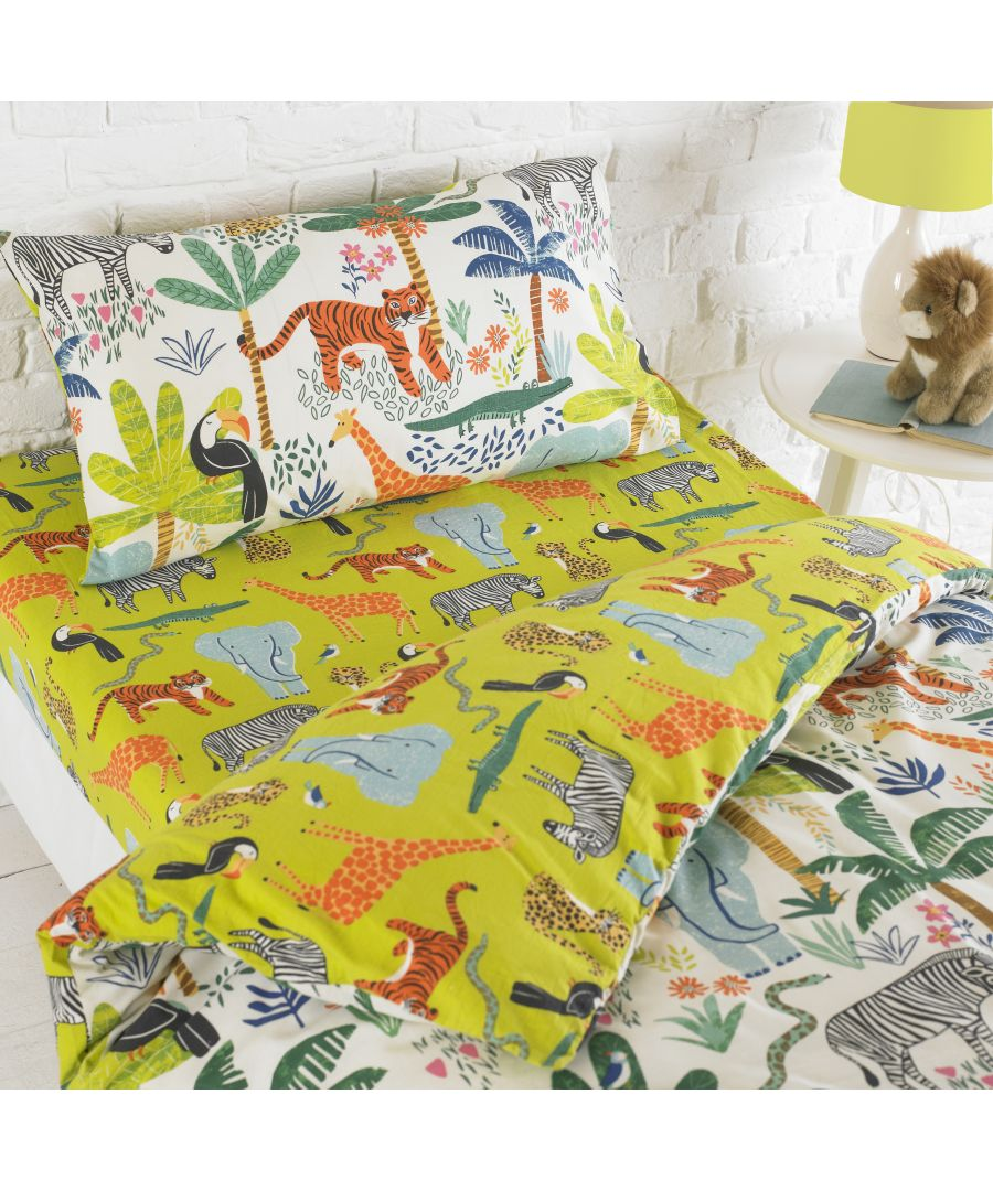 Image for Jungletastic Fitted Sheet Multi