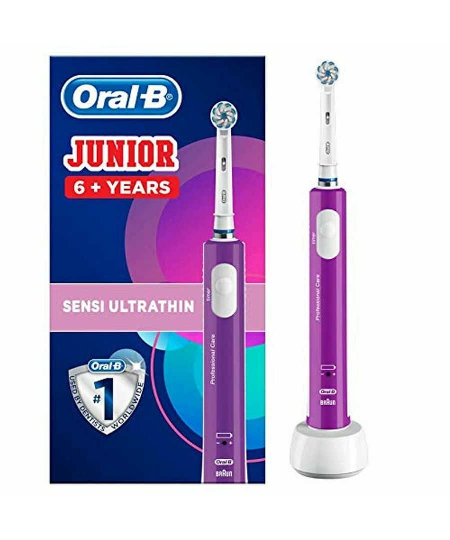 Image for Oral-B Junior Kids Electric Toothbrush Rechargeable for Children Aged 6+ Purple