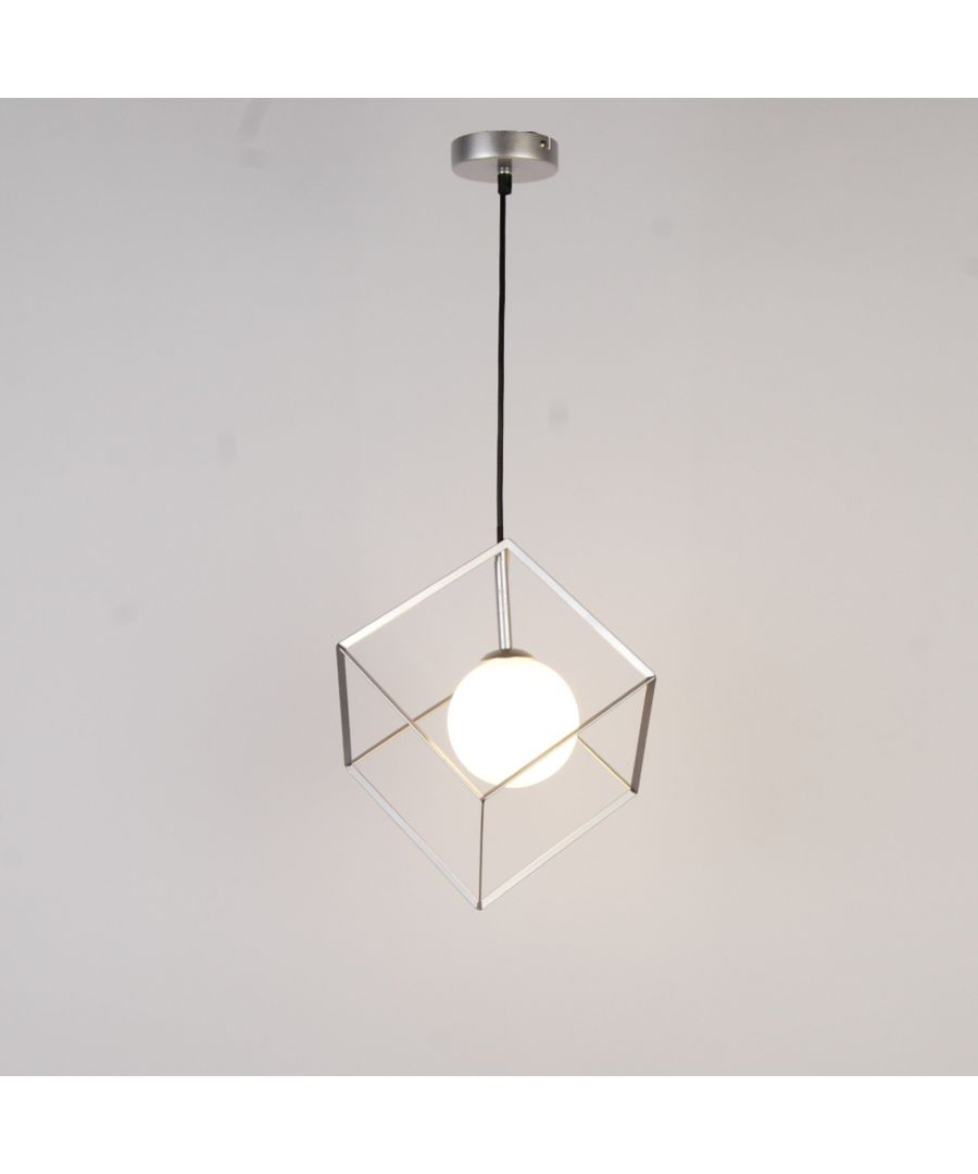 Image for Villem 1 Light Silver Pendant Ceiling Light