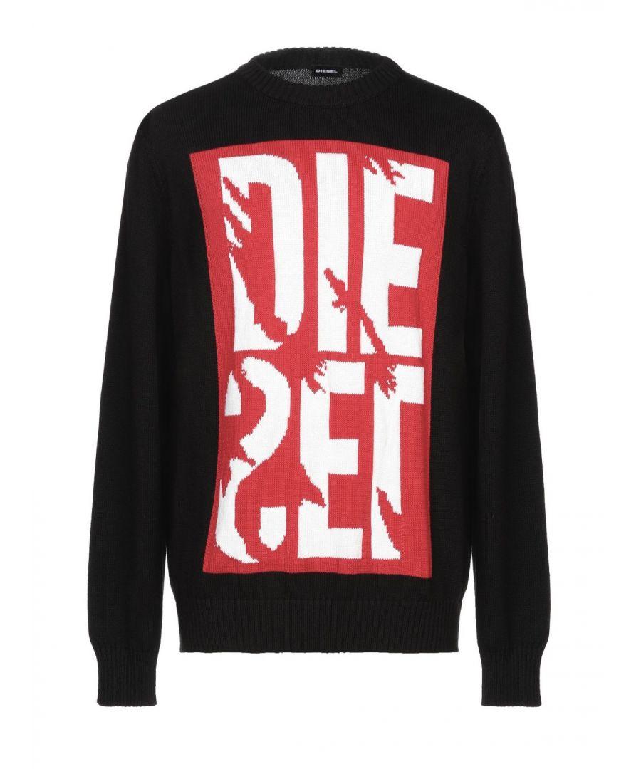 Image for Diesel Large Logo Black Sweatshirt