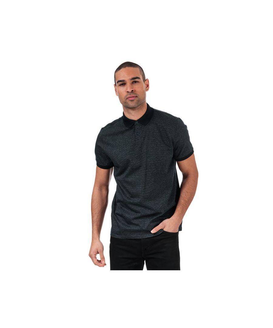 Image for Men's Calvin Klein Logo Polo Shirt in Navy