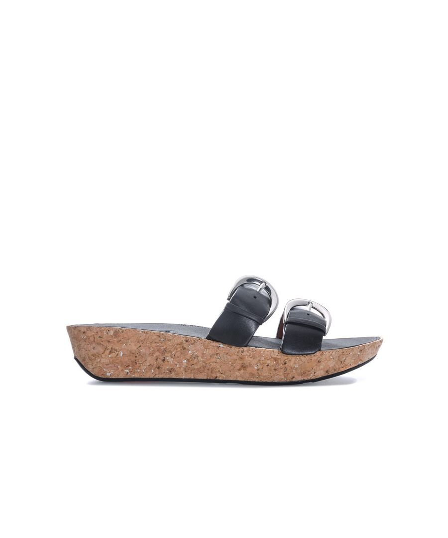 Image for Women's Fit Flop Duo Buckle Slide Sandals in Black