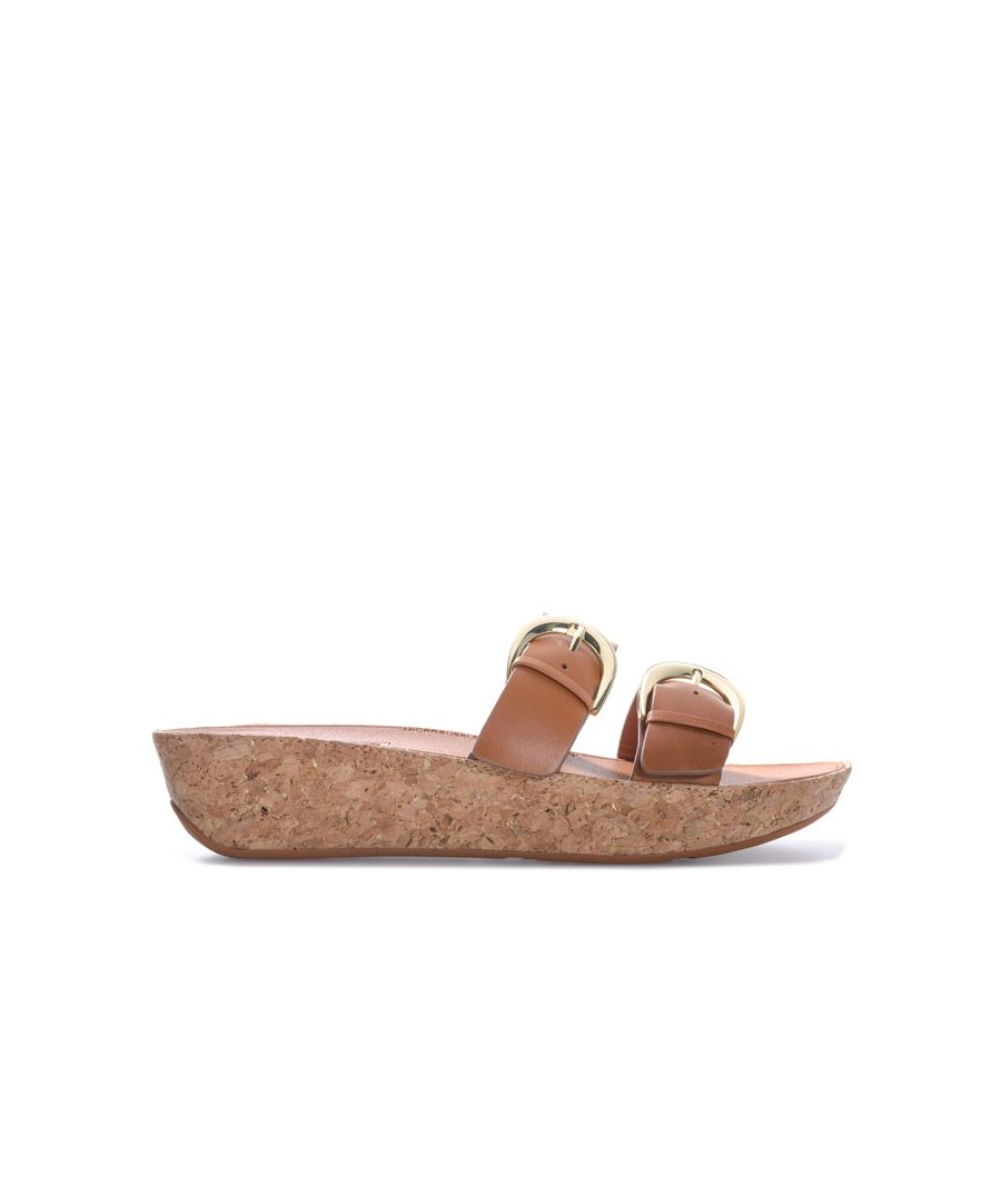 Image for Women's Fit Flop Duo Buckle Slide Sandals in Brown