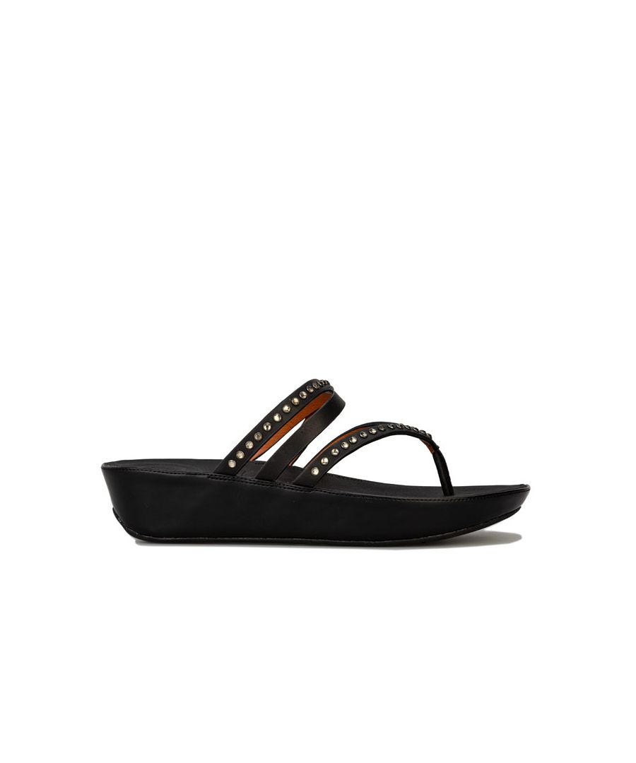 Image for Women's Fit Flop Linny Criss Cross Toe Thong Sandals in Black