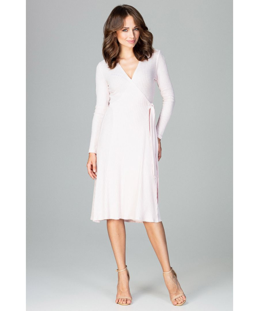 Image for Long Sleeve Wrap Midi Dress