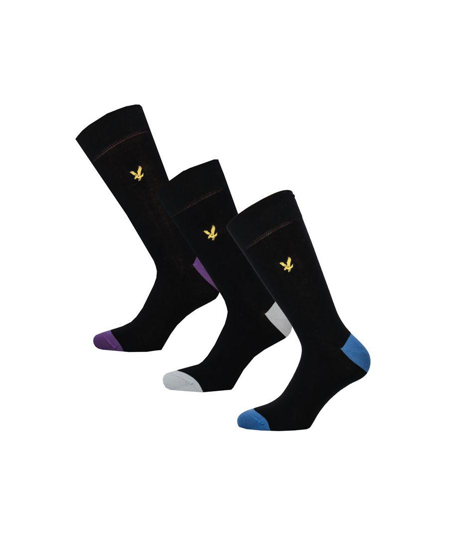 Image for Men's Lyle And Scott Kennedy 3 Pack Socks in Black