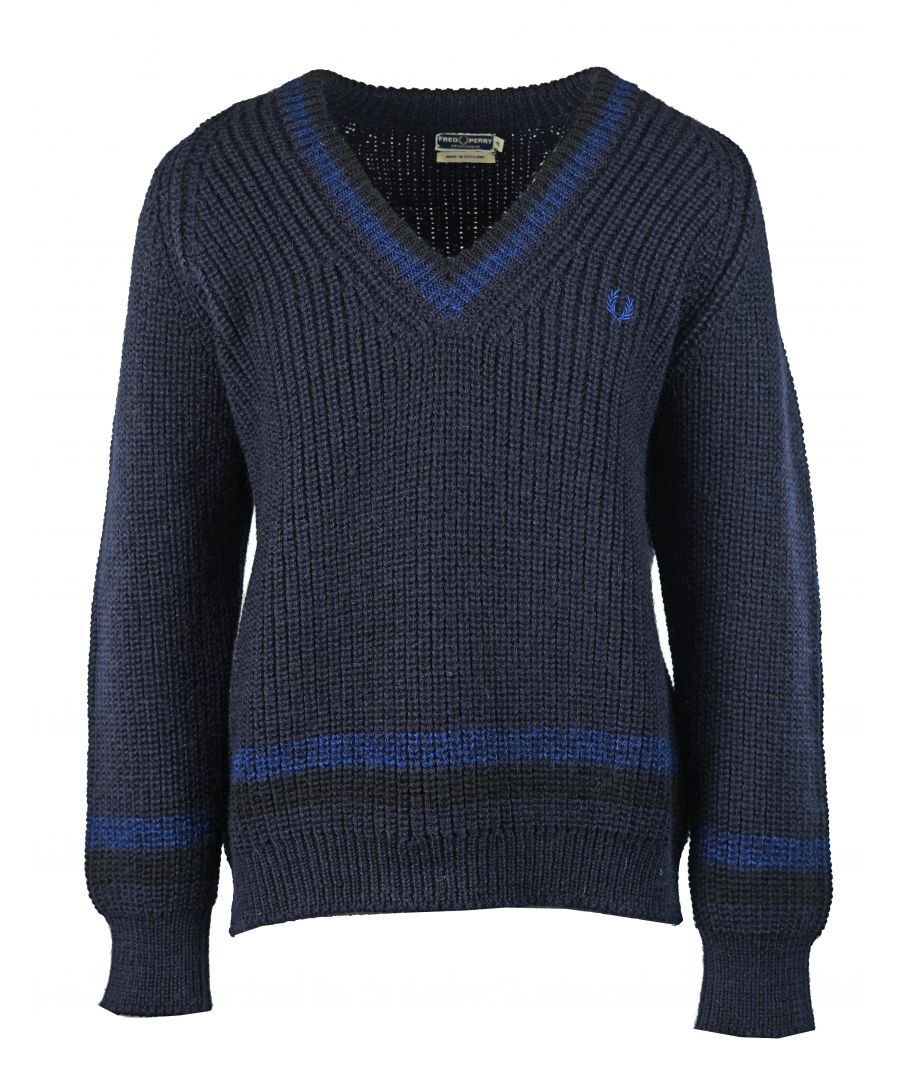 Image for Fred Perry Heavy Knit Tennis Sweater K5140 143