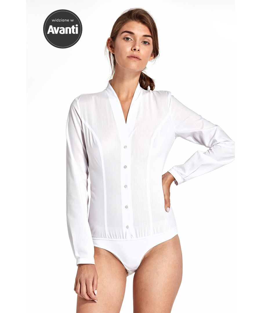 Image for Body shirt without a collar - white