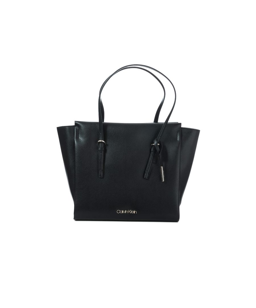 Image for Accessories Calvin Klein Trapeze Gusset Tote Bag Black One Sizein Black