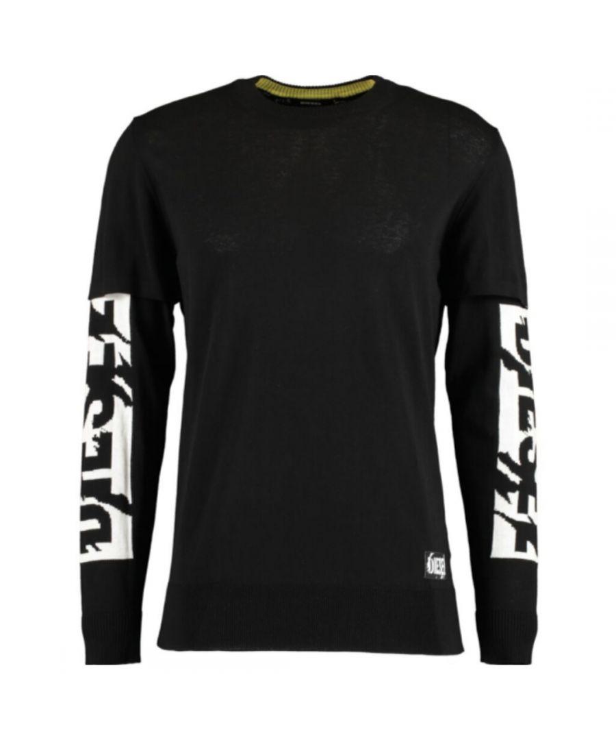 Image for Diesel K-Bette Arm Logo Black Sweatshirt