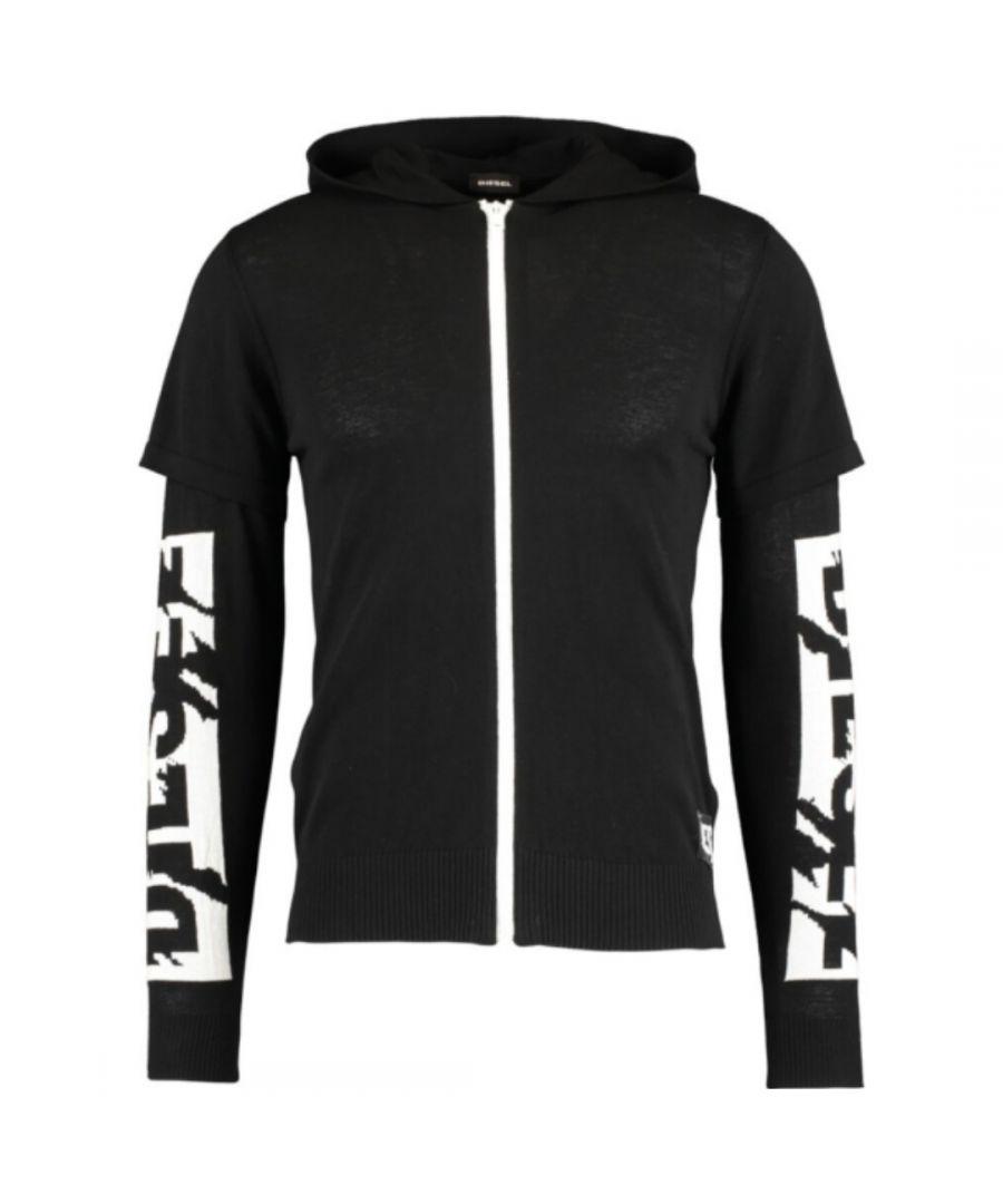 Image for Diesel K-Nona Arm Logo Black Hoodie