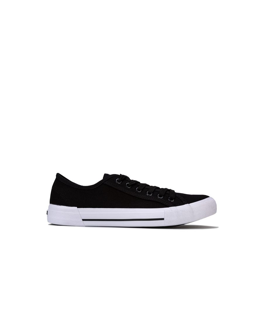 Image for Men's NICCE Kansas Low Trainers in Black-White