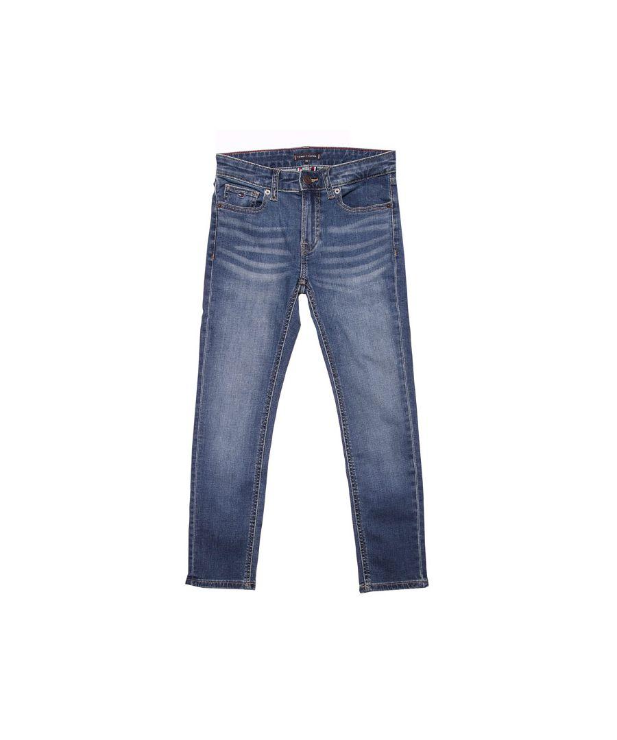 Image for Boy's Tommy Hilfiger Junior Scanton Slim Fit Jeans in Denim