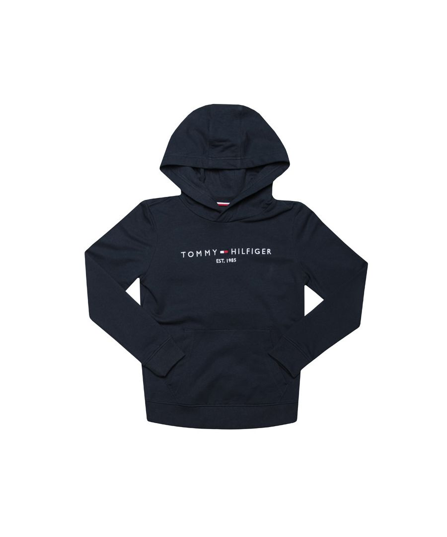 Image for Boy's Tommy Hilfiger Junior Essential Hoody in Navy