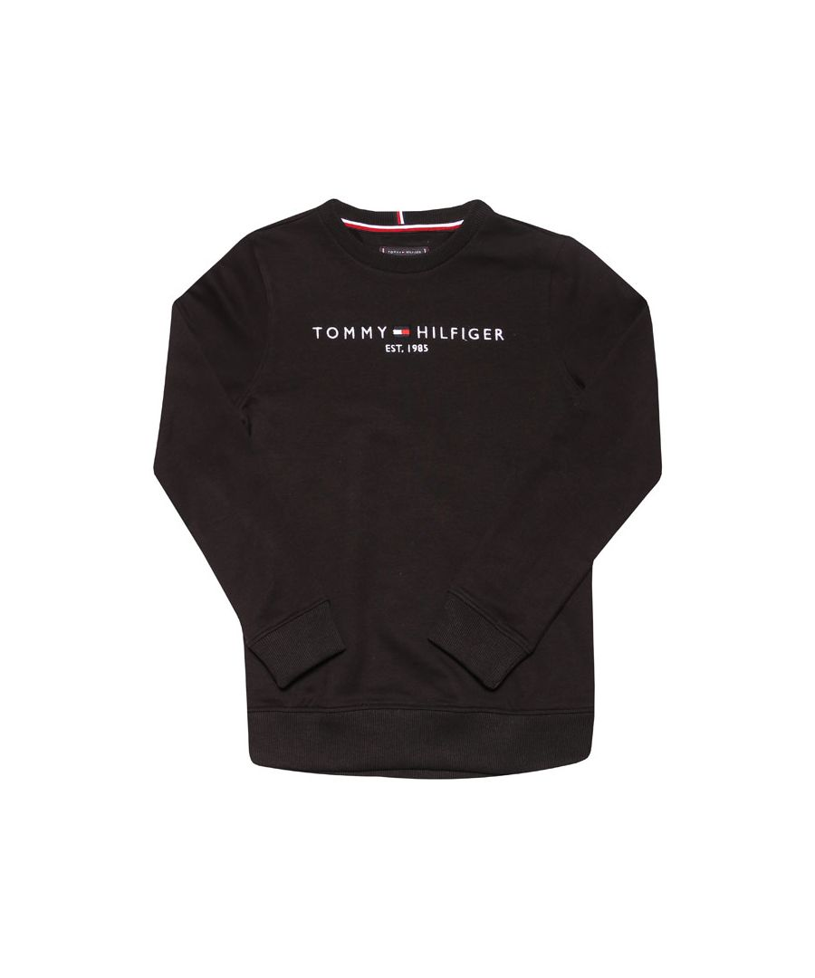 Image for Boys' Tommy Hilfiger Junior Essential Crew Sweat in Black