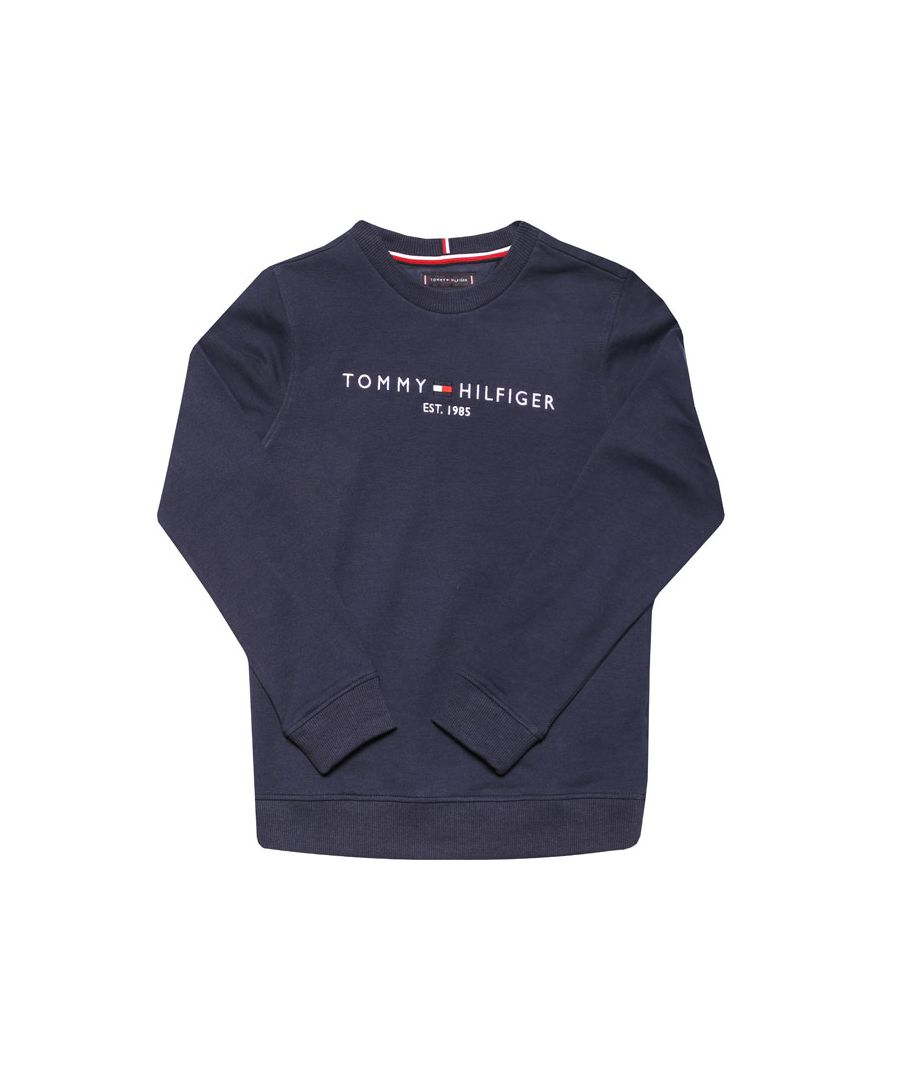 Image for Boys' Tommy Hilfiger Junior Essential Crew Sweat in Navy