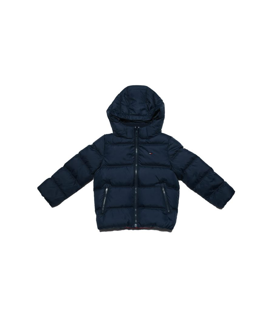 Image for Boy's Tommy Hilfiger Infant Essential Down Jacket in Navy